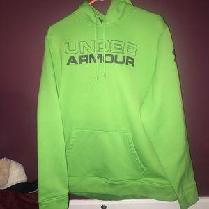 Brand new neon green Under Armour hoodie
